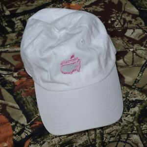 The-Masters-White-Pink-Strapback-Adjustable-Hat-Magnolia-Lane-Collection-Used