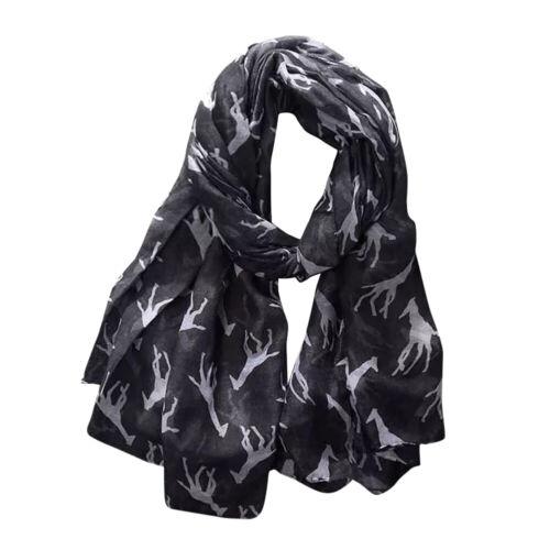 GI BL/_ Cute Giraffe Animal Print Scarf Scarves Long Neck Wrap Women Sunscreen S