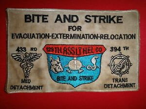 Vietnam-War-US-129th-Assault-Helicopter-Company-BITE-AND-STRIKE-Patch