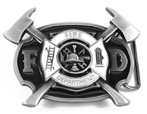 United-States-Fire-Fighter-Fire-Department-American-Hero-Axes-Belt-Buckle