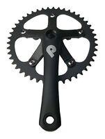 Pake 1/8 Inch Track Single Speed 165mm 46t Jis Square Taper Bicycle Black