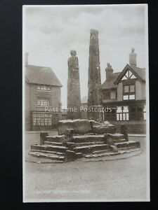 Cheshire-SANDBACH-The-Ancient-Crosses-Old-Postcard