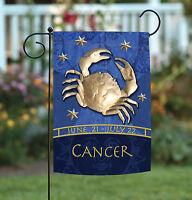 Toland - Zodiac Cancer - Blue Astrological Horoscope Crab Garden Flag