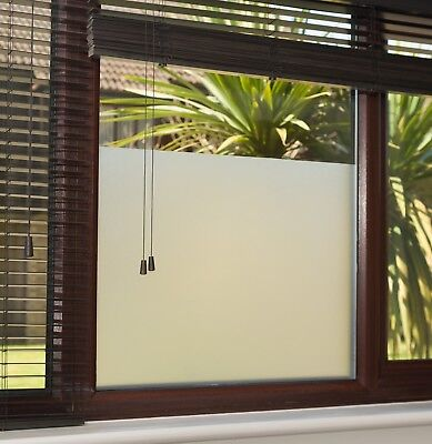 Frosted Window Film. Privacy Tint, Decorative Matte Air, Bubble Free, Adhesive