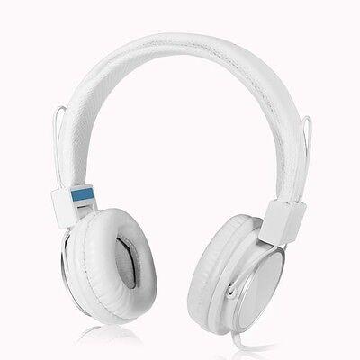 3.5mm Stereo Over-Ear Earphone Headphone Headset W/ Mic for Iphones IPads PC