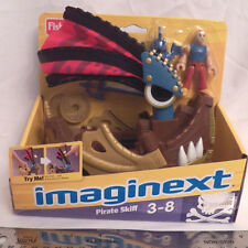 Fisher Price Imaginext Pirate Skiff boat set sail pops up weapon disk figure NIB