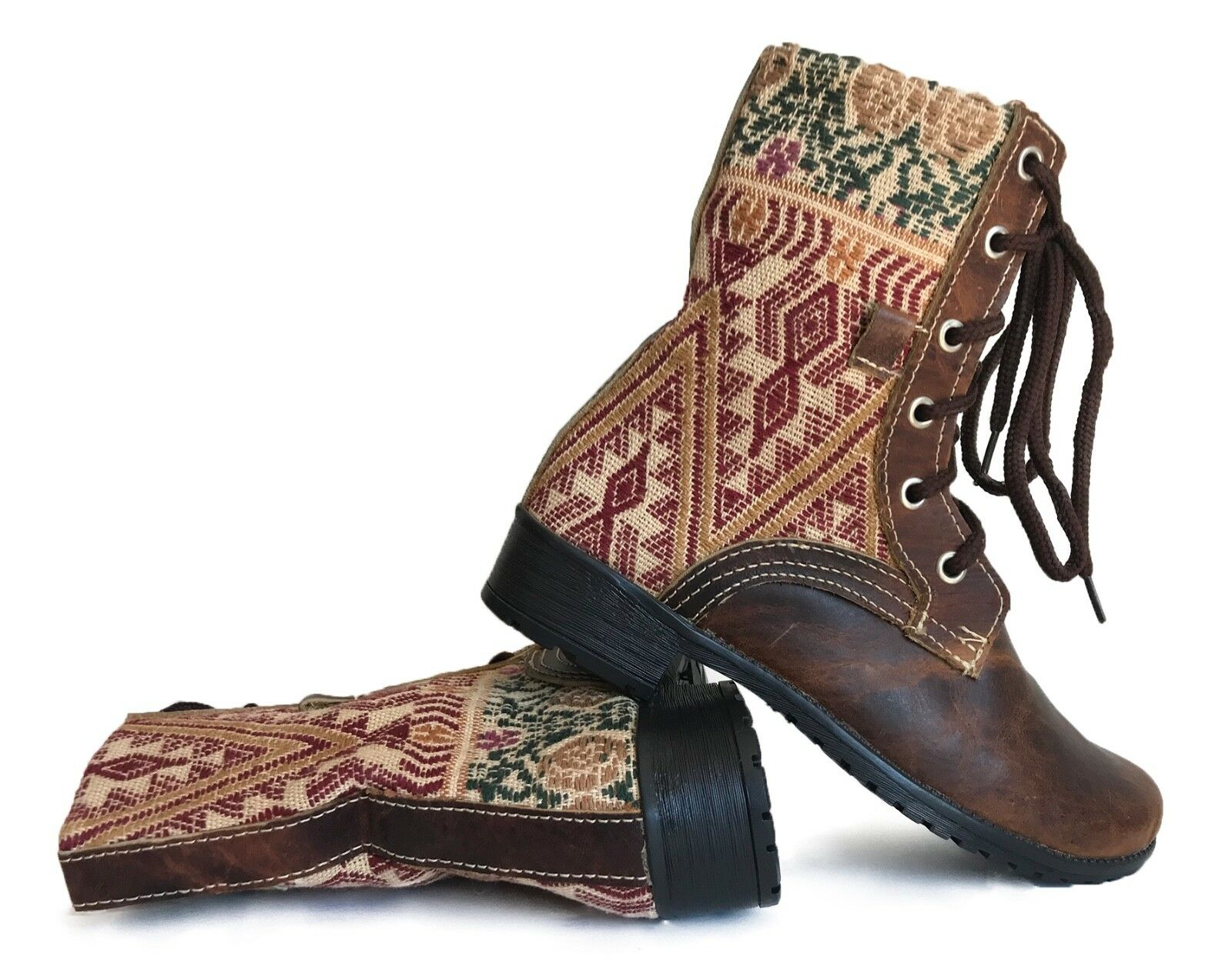 Size 33 Euro - Guatemalan boots, combat boots, lace up boots, handmade boots