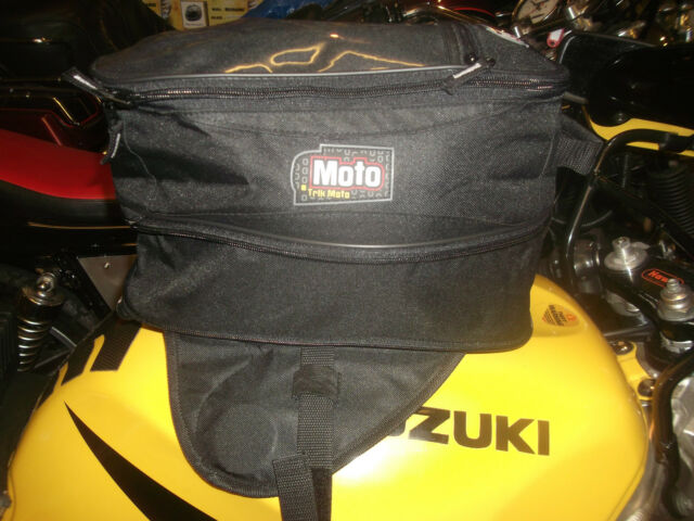TRIK MOTO  EXPANDING magnetic TANK BAG BLACK