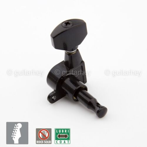 Tuning Keys BLACK NEW Gotoh SG360-07 Set 6 In-Line Schaller Style Mini Tuners