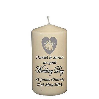 personalised wedding civil partnership gift keepsake pink hearts candle present