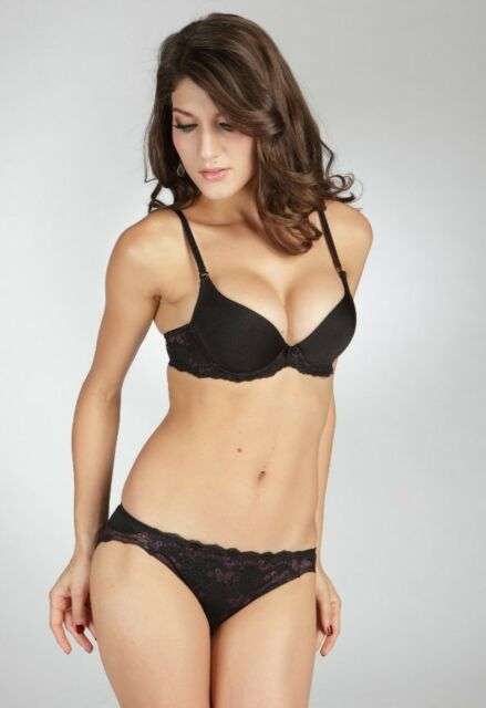 E et D 575 comfort embroidery padded push up cup Bra set with panties 5 colours