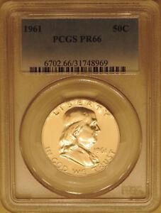 1961-PCGS-PR66-Franklin-half-dollar-proof-GEM-90-silver