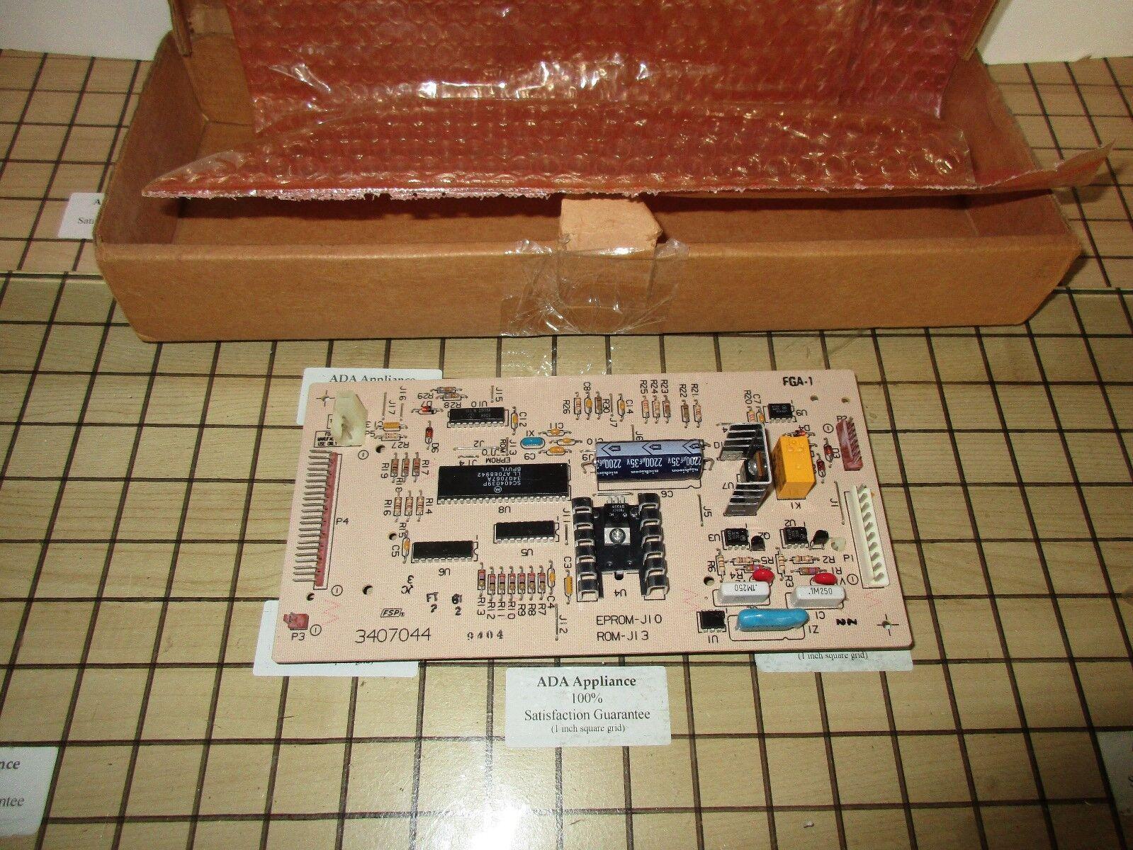 Whirlpool Washer Control Board 3407044,  73407044 SATISFACTION GUARANTEE