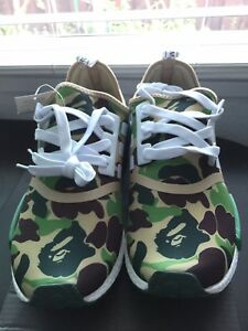 Brand new Adidas NMD X BAPE Japan Green Camo Bathing Bape SZ 8.5