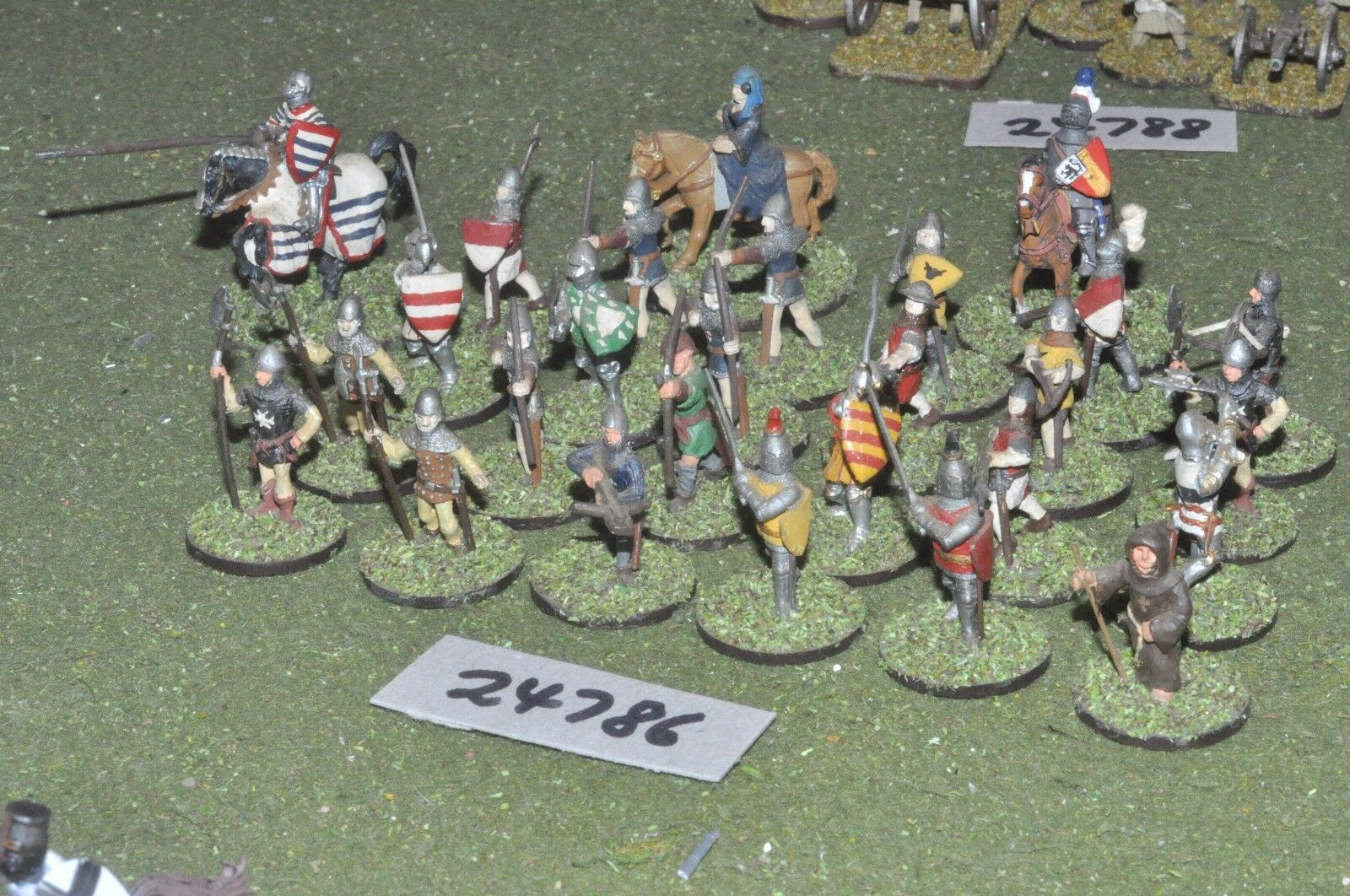 25mm medieval   english - battle group 27 figures - inf (24786)