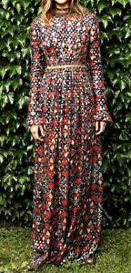 1-500-Tory-Burch-Embellished-Brocade-Leanne-Maxi-Long-Gown-Dress-IT-42-US-6