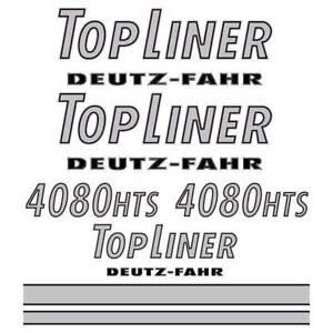 Details About Deutz Fahr Topliner 4080 Hts Harvester Mahdrescher Decal Aufkleber Sticker
