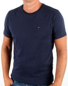 27800ea9 Tommy Hilfiger Cotton Crew Neck T Shirt in Navy Blue - short sleeve ...