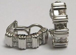 18ct-Gold-Diamond-Earrings-18k-White-1-80ct-Princess-Cuts
