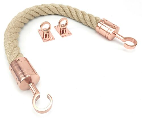 Natural Barrier Rope System Decking Rope Fitting End Hook /& Eye Plates Stanchion