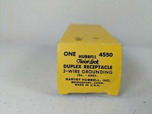 HUBBELL-HBL4550-Duplex-Receptacle-250V-L6-15R-15A-2P-3W-Grounding-Twist-Lock
