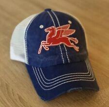 MOBIL PEGASUS Logo Hat Cap Gas SOCONY Weathered Distressed Look Oil Man Cave B