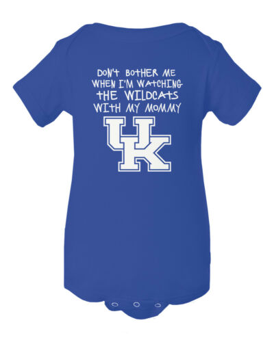 Kentucky Wildcats Watching With Mommy Baby Short Sleeve Bodysuit