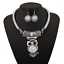 Fashion-Jewelry-Crystal-Choker-Chunky-Statement-Bib-Pendant-Women-Necklace-Chain thumbnail 130