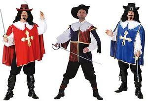 Musketier Kostum Herren Mittelalter Sabel Musketierkostum Hut