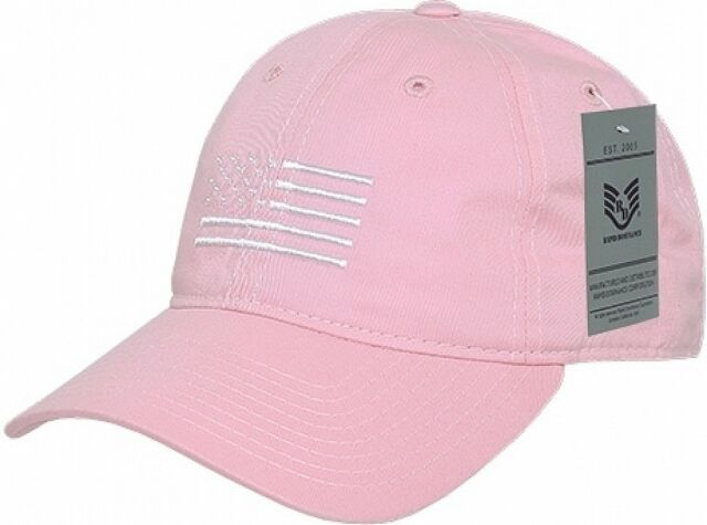 Pink Baseball Cap W White USA Flag Patriotic American Pride Polo Soft New  Hat 411148d7cc7