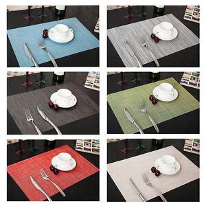 4-x-Kueche-Tischset-Platzdeckchen-Platzset-abwaschbar-Kunststoff-PVC-45x30-cm