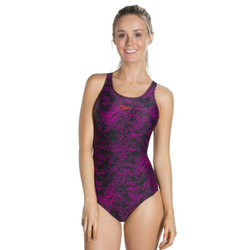 Speedo Damen Badeanzug Schwimmanzug schwarz Boom Muscleback Frauen Endurance®+