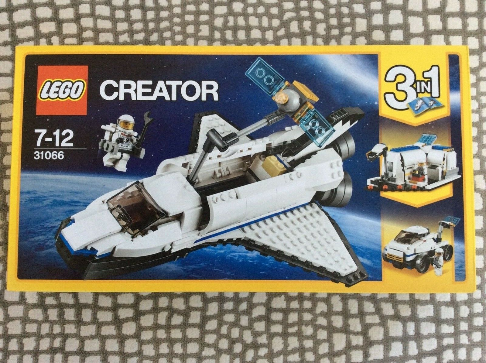 BRAND NEW Lego 31066 Creator 3-in-1 Space Shuttle Explorer, Sealed, Retired Set