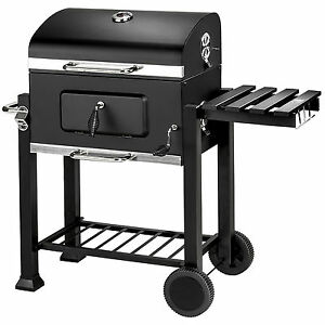 BBQ-Charcoal-grill-barbecue-smoker-grill-garden-portable-outdoor-115x65x107cm