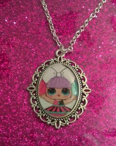 Silver Charm Necklace Pendant LOL L.O.L Doll Independent Queen