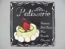 Vintage Patisserie Sign Wood /& Glass Rustic French Retro Parisian Kitchen Decor