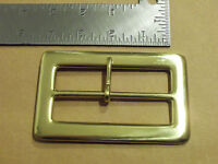 3 1/2 Solid Brass Middle Bar Santa Claus Belt Buckle
