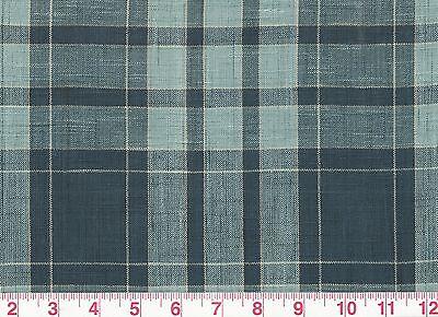 Cotton Plaid Drapery Upholstery Fabric by Fabricut Patrn Robinson Crusoe CL Blue