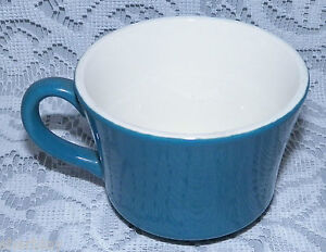 Vintage-CROWN-LYNN-Willow-Pattern-Tableware-Coffee-Cup-2-3-4-034-Tall-in-SOLID-BLUE