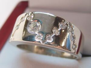 14kt & 18 KT SOLID WHITE GOLD BEAUTIFUL .25 CT DIAMOND RING MUST SEE!
