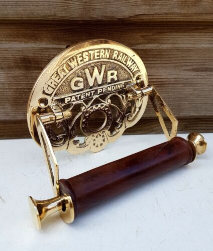 Traditional GWR Vintage Design Victorian Toilet Roll Holder Solid Brass