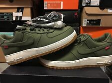 NIKE x SUPREME AIR FORCE 1 LOW [SZ 9.5] 2012 PRM OLIVE RED DS CAMO 573488-300