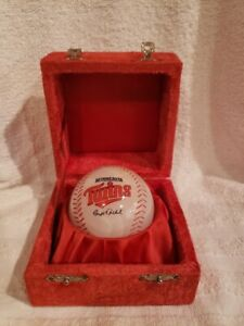 ULTRA RARE Minnesota Twins Team Employee Carl Pohlad Gift Onyx Baseball, MINT!