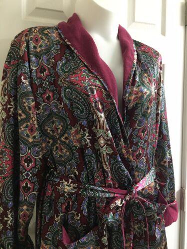 Vintage Victoria's Secret Burgundy Paisley Long Wr