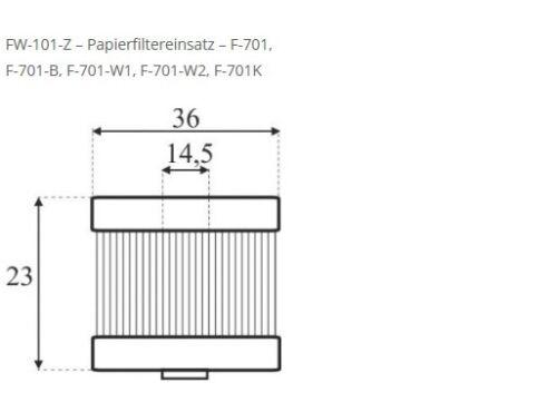 Autogas Filter-Einsatz für Certools F-701 Filter Gasfilter KME LPG