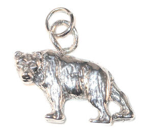 STERLING-SILVER-CHARM-Wild-Animal-BEAR