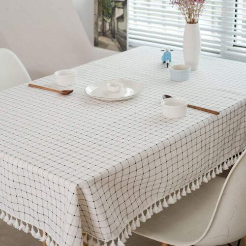 Blesiya Satin Stripe Weave Soil Fabric Tablecloth Oblong 140X220cm