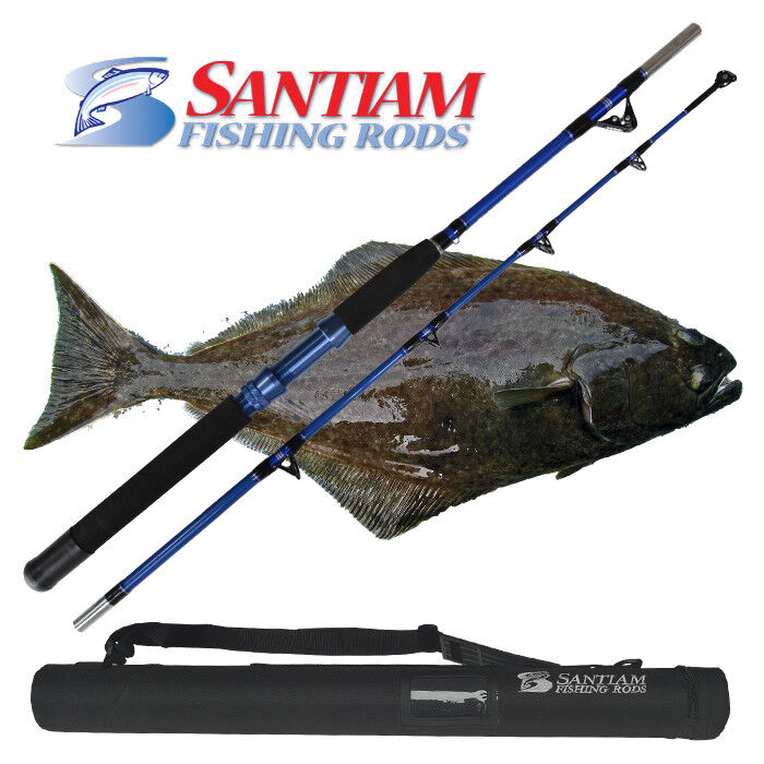 SANTIAM FISHING RODS 2 PC 6'0   80-120 LB HALIBUT TUNA ALASKAN TRAVEL SERIES  fitness retailer