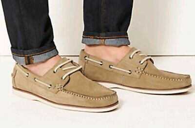 brand new mens ms suede real leather boat shoes casual