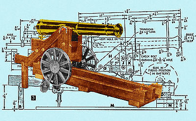 BUILD A MODEL1840 32 POUND COLUMBIAD CANNON Full Size Printed PLANS | eBay